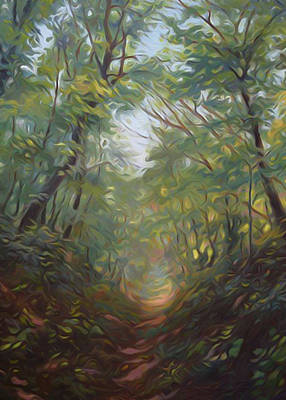 Reflection Painting - Nature Landscape Light by Edna Wallen