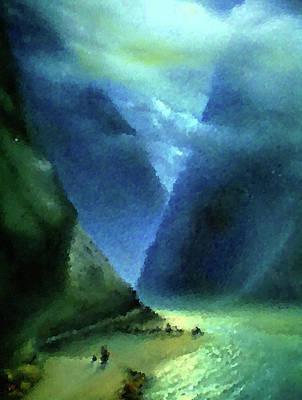 Summer Painting - Nature Work Landscape by Edna Wallen
