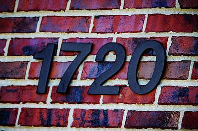 Photograph - 1720 Address by Jeff Kurtz