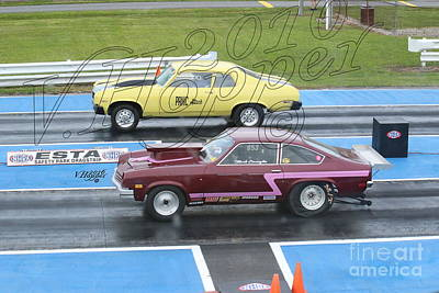 Wall Art - Photograph - 1723 05-21-16 Esta Safety Park Drag Racing by Vicki Hopper