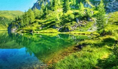 Landscape Painting - Landscape Oil Painting Nature by Margaret J Rocha
