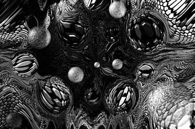 Sterling Silver Digital Art - Abstract  by Belinda Cox