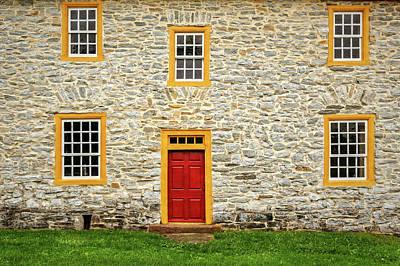 Photograph - 1750 Isaac Meier Homestead  -  1750meierhomebackentrydetaillab185713 by Frank J Benz