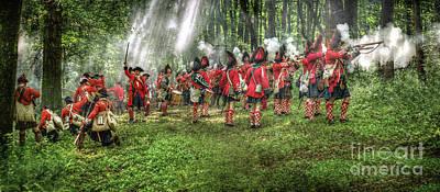 1763 Battle Of Bushy Run Pennsylvania Art Print by Randy Steele