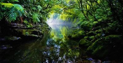 Landscape Painting - Nature Oil Paintings Landscapes by Margaret J Rocha