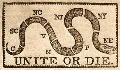 Painting - 1774 Unite Or Die by Historic Image