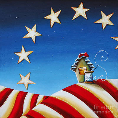 Americana Painting - 1776 by Cindy Thornton