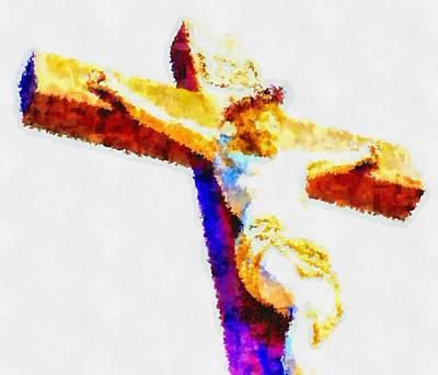 Religious Art Digital Art - Jesus Christ - Religious Art by Elena Kosvincheva