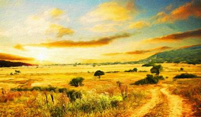 Bob Ross Painting - Nature Oil Paintings Landscapes by Margaret J Rocha