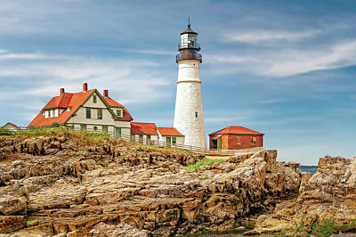 Photograph - 1791 Portland Head Light  -  Portlandmaine1791headlighthouse185222 by Frank J Benz