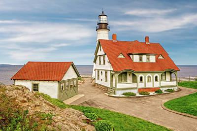 Photograph - 1791 Portland Head Light Station  -  1791portlandheadlightlab185230 by Frank J Benz
