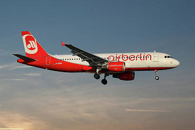 Berlin Wall Art - Photograph - Air Berlin Airbus A320-214 by Smart Aviation
