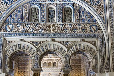 Muneca Photograph - Alcazar Of Seville - Seville Spain by Jon Berghoff