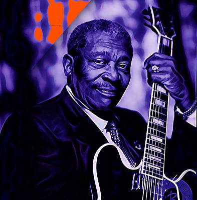 Bb King Collection Art Print by Marvin Blaine