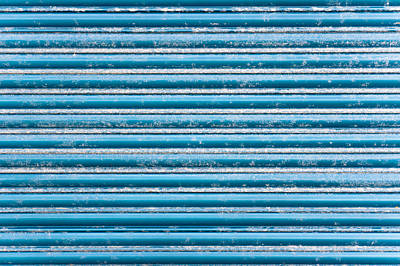 Galvanize Photograph - Blue Metal by Tom Gowanlock