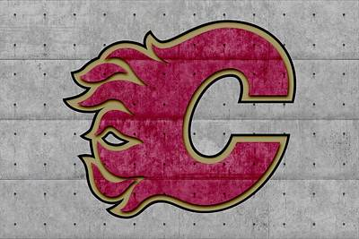 Calgary Photograph - Calgary Flames by Joe Hamilton