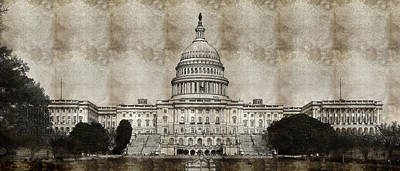 Photograph - Capitol Building by Artistic Panda