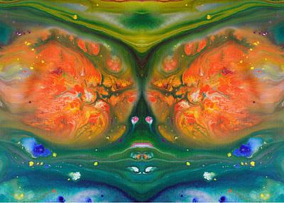 Fluid Acrylic Paint Art Print