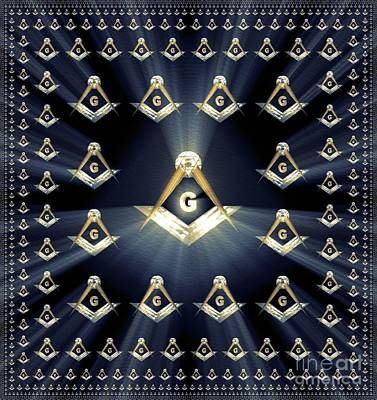 Painting - Freemason, Masonic, Symbols by Pierre Blanchard