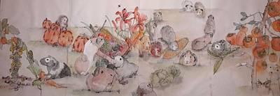 Garden  Of  Plenty  Album  Art Print by Debbi Saccomanno Chan