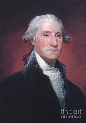President Painting - George Washington by Gilbert Stuart