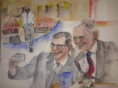 Letterman Painting - Going To Bed With Letterman  Album  by Debbi Saccomanno Chan