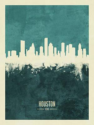 Houston Texas Skyline Art Print