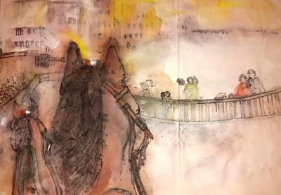 Il Palio Story Album Art Print by Debbi Saccomanno Chan