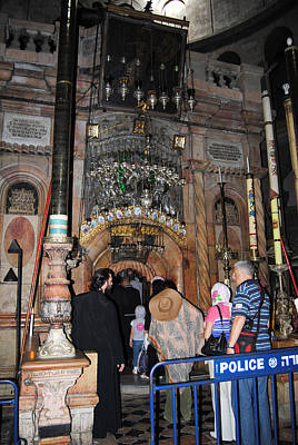 Photograph - The Aedicule Over The Tomb Of Jesus 3 by Isam Awad