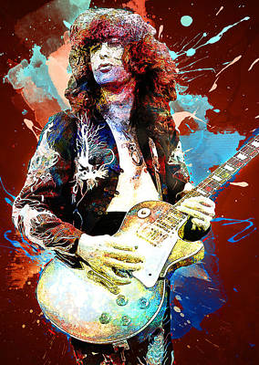 Jimmy Page Digital Art - Jimmy Page. Led Zeppelin. by Elizabeth Simon