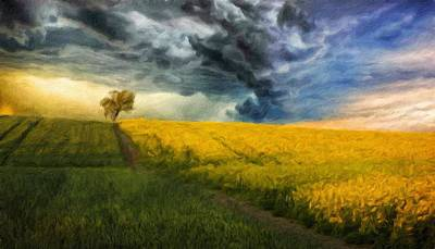 Bob Ross Painting - Landscape Definition Nature by Margaret J Rocha