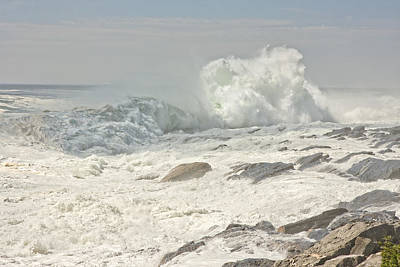 Photograph - Pemaquid Point Waves Maine by Keith Webber Jr