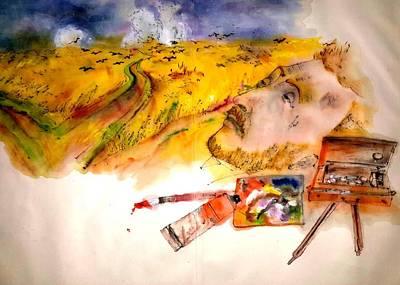 Looking At Van Gogh My Way Album Art Print by Debbi Saccomanno Chan