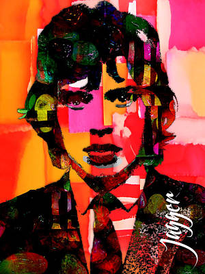 Mick Jagger Collection Art Print by Marvin Blaine