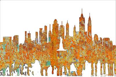 Digital Art - New York New York Skyline  by Marlene Watson