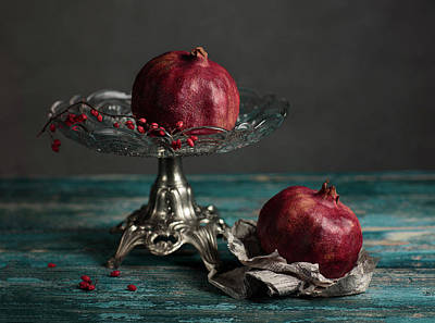 Kitchen Photograph - Pomegranate by Nailia Schwarz