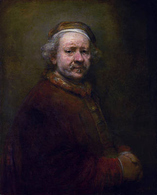 Self Shot Painting - Self-portrait by Rembrandt van Rijn