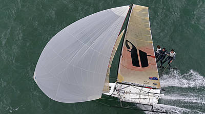 Photograph - 18 Skiff Aerial by Steven Lapkin