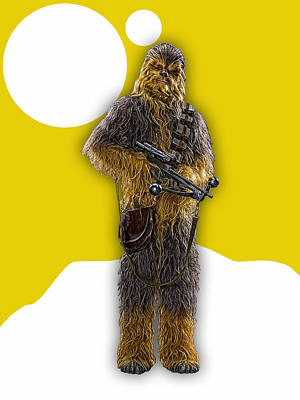 Mixed Media - Star Wars Chewbacca Collection by Marvin Blaine