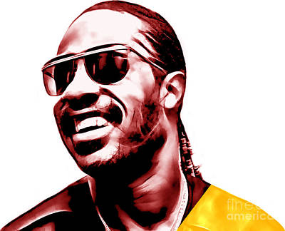 Soul Mixed Media - Stevie Wonder Collection by Marvin Blaine