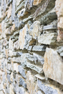 Color Block Photograph - Stone Wall by Tom Gowanlock