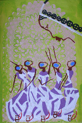 Painting - The Wise Virgins by Gloria Ssali