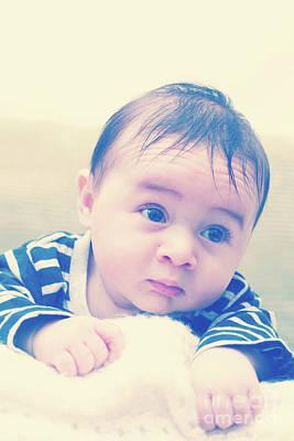 Three Month Old Baby Boy Art Print