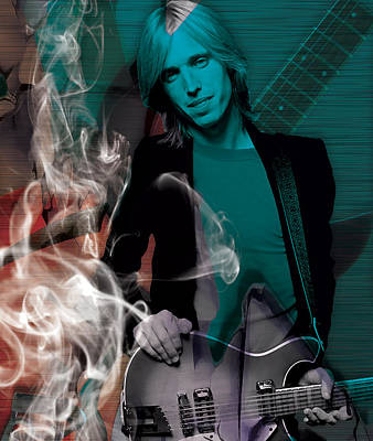 Mixed Media - Tom Petty Collection by Marvin Blaine