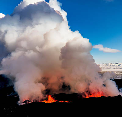 Magma Photograph - Volcano Eruption At The Holuhraun by Panoramic Images