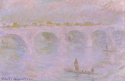 Smoke Painting - Waterloo Bridge by Claude Monet