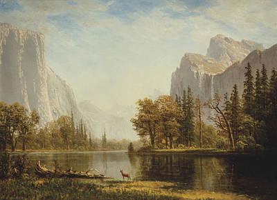 Yosemite Painting - Yosemite Valley by Albert Bierstadt