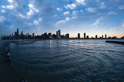 180 Degree View Of The Chicago Skyline Art Print