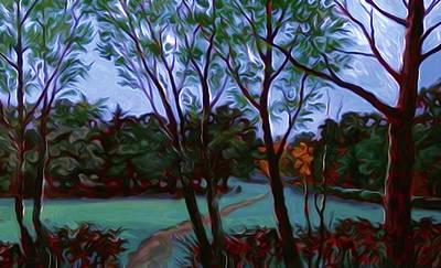 Sunrise Painting - Nature Landscape Light by Edna Wallen