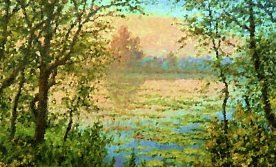 Summer Painting - Nature Landscape Pictures by Edna Wallen